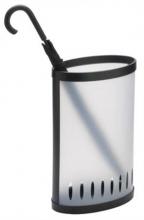 ALBA esernyőtartó, műanyag, 38x23x60 cm, áttetsző fehér/fekete