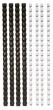 FELLOWES spirál, 6 mm, műanyag, 10-20 laphoz, fekete