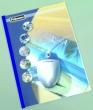 FELLOWES hőkötőborító, 1,5 mm, 1-10 lap, Prestige, bőrhatású, átlátszó-kék