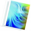 FELLOWES hőkötőborító, 4 mm, 33-45 lap, Prestige, bőrhatású, átlátszó-fehér