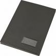 VICTORIA aláírókönyv, A4, 20 részes, karton, műbőr hatású borító, fekete