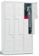 öltözőszekrény, 180x70x50 cm, 4 rekeszes, Z-ajtós