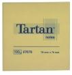 TARTAN jegyzettömb, öntapadós, 76x76 mm, 100 lapos, sárga