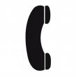 APLI információs címke - Telefon, 114x114 mm