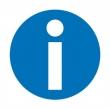 APLI információs címke - Információ, 114x114 mm