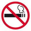 APLI információs címke - Dohányozni tilos (ablakra), 114x114 mm