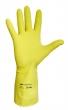 védőkesztyű, 7-es méret, latex, sárga
