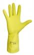 védőkesztyű, 8-as méret, latex, sárga