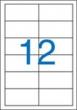 VICTORIA etikett, A4, 97x42,4 mm, 2 pályás, univerzális