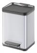 VEPA BINS szelektív hulladékgyűjtő, 2x11 l, fém, 32x25 cm