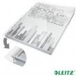 LEITZ genotherm, lefűzhető, A4, 180 mikron, 20 mm, behajtható fül, Jumbo, víztiszta felület