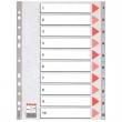 ESSELTE regiszter, A4, műanyag, 1-10, szürke