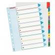ESSELTE regiszter, A4, 1-10, laminált karton, maxi, újraírható