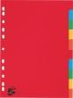 5 STAR elválasztó lap, A4, karton, 10 részes, színes