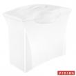 ESSELTE függőmappa tároló, műanyag, 5 db függőmappával, mobil, Europost, Vivida, fehér