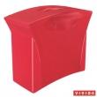 ESSELTE függőmappa tároló, műanyag, 5 db függőmappával, mobil, Europost, Vivida, piros