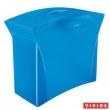 ESSELTE függőmappa tároló, műanyag, 5 db függőmappával, mobil, Europost, Vivida, kék