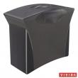 ESSELTE függőmappa tároló, műanyag, 5 db függőmappával, mobil, Europost, Vivida, fekete