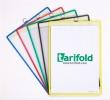 TARIFOLD bemutatótábla, A4, függő, álló, fém fülecskével, zöld
