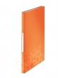 LEITZ prezentációs mappa, A4, 40 zsebes, Bebop, narancssárga
