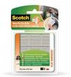 3M SCOTCH ragasztó négyzetek, kétoldalú, szilikon, újrafelhasználható