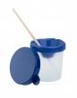 ICO ecsettartó pohár, műanyag, zárható fedeles