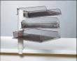 EXACOMPTA irattálca, műanyag, 3 részes, asztalra szerelhető, szürke fémváz, füst