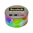 3M SCOTCH ragasztószalag, 19 mm x 7,62 m, Expressions, színes felhő foltok