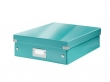 LEITZ tárolódoboz, rendszerező, laminált karton, M, Click&Store, jégkék
