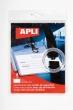 APLI névkitűző, nyakba akasztható, biztonsági csattal, 90x56 mm