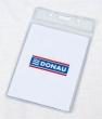 DONAU azonosítókártya tartó, hajlékony, függőleges, 59x92 mm