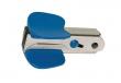 SAX kapocskiszedő, biztonsági zárral, kék