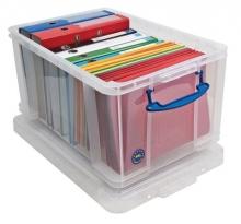 REALLY USEFUL BOX tárolódoboz, műanyag, 48 liter, függőmappák, iratrendezők tárolására