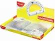 MAPED Szögmérő, műanyag, 180°-os, kínáló dobozos, Essentials