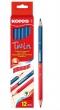 KORES postairón, háromszögletű, Twin, piros/kék