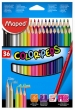 MAPED színes ceruza készlet, háromszögletű, Color`Peps, 36 db-os