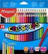 MAPED színes ceruza készlet, háromszögletű, Color`Peps, 48 db-os