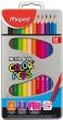 MAPED színes ceruza készlet, háromszögletű, Color`Peps, fém doboz, 12 db-os