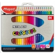 MAPED színes ceruza készlet, háromszögletű, Color`Peps, fém doboz, 24 db-os