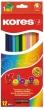 KORES színes ceruza készlet, háromszögletű, Triangular, 12 db-os