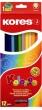 KORES színes ceruza készlet, hatszögletű, Hexagonal, 12 db-os