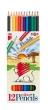 KOH-I-NOOR színes ceruza készlet, hatszögletű, Oroszlán 2162/12, hajlékony, 12 db-os