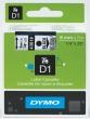 DYMO feliratozógép szalag, 6 mm x 7 m, D1, víztiszta/fekete