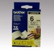 BROTHER feliratozógép szalag, 6 mm x 8 m, fehér/fekete