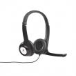LOGITECH fejhallgató, sztereó, mikrofonnal, USB csatlakozás, H390
