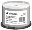 VERBATIM CD-R, 700 MB, 80 min, 52x, nyomtatható, ezüst felület, matt, no-ID, hengeren