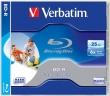 VERBATIM BD-R, Blu-Ray, 25 GB, 6x, nyomtatható, normál tokban