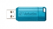 VERBATIM pendrive, 16 GB, USB 2.0, 10/4MB/sec, PinStripe, karibikék