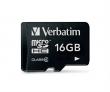 VERBATIM memóriakártya, Micro SDHC, 16 GB, Class 4