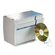 ESSELTE CD-archiváló, 50 db-os, asztali, kijelzős, szürke